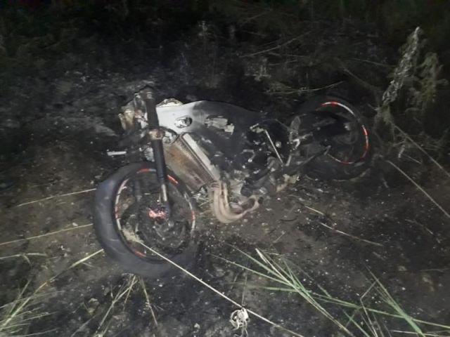 В Ставрополе перевернулся и сгорел мотоцикл, пострадал водитель