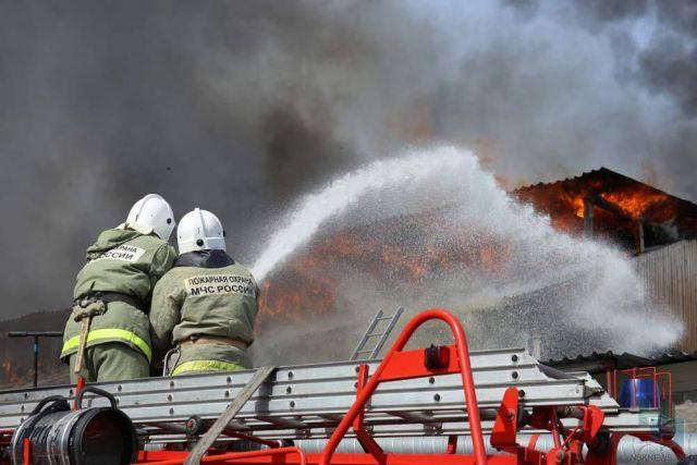 Два человека погибли при пожаре в Кочубеевском районе