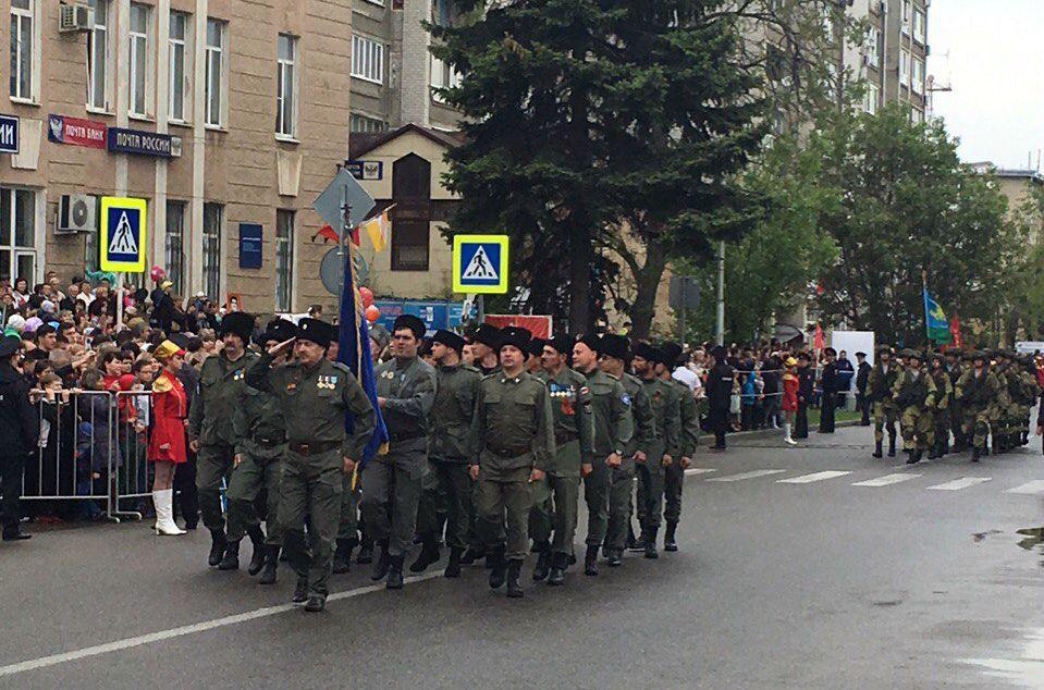 25 тысяч пятигорчан стали участниками парада Победы в городе-курорте
