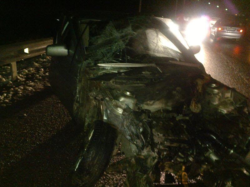 Нетрезвый шофёр изЧечни спровоцировал столкновение четырех авто вЕссентуках