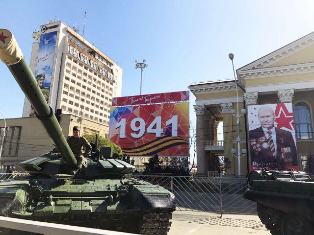 Военную технику Ставрополя готовят к параду Победы
