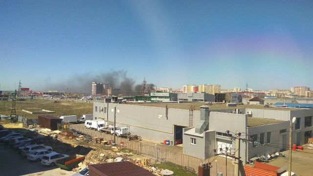 На Южном рынке в Ставрополе загорелся пост охраны