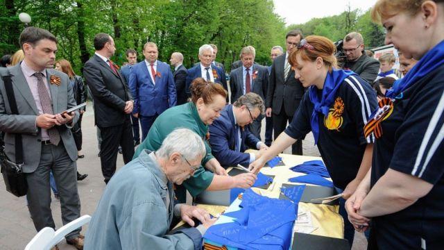 Самый большой в России «Синий платочек» сшили в Железноводске