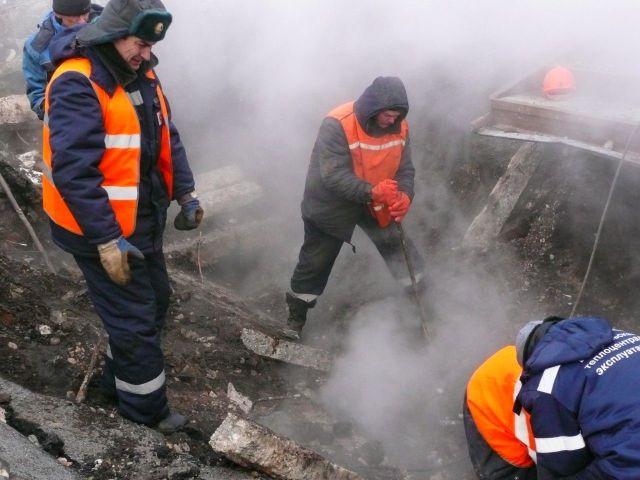 Ночью в Ставрополе произошёл порыв теплотрассы
