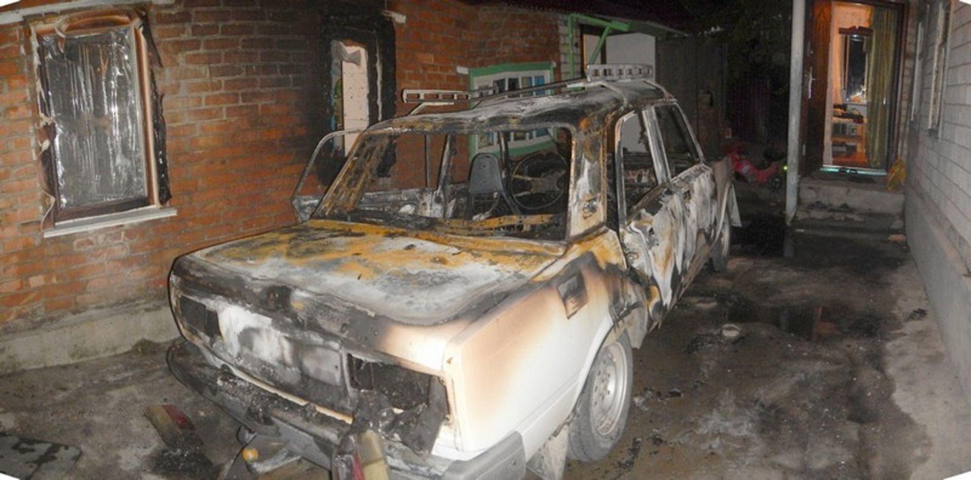 Обиженный ставрополец поджёг машину бывшей жены