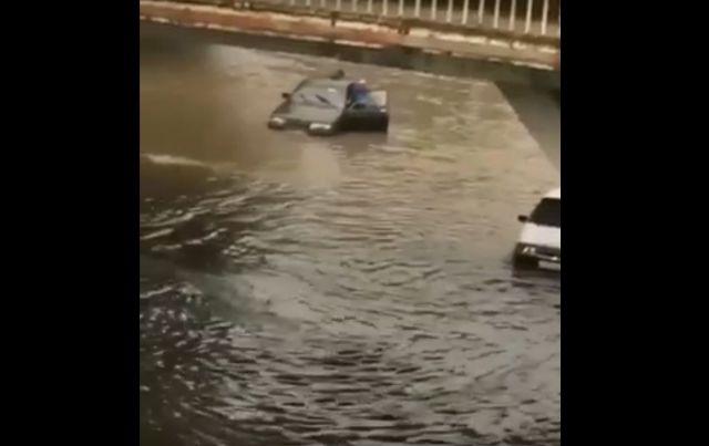 Сильный ливень затопил улицы Кисловодска