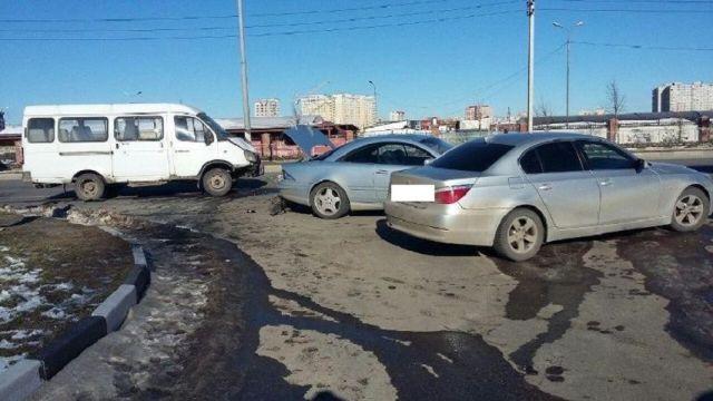 В Ставрополе произошло тройное ДТП с маршруткой