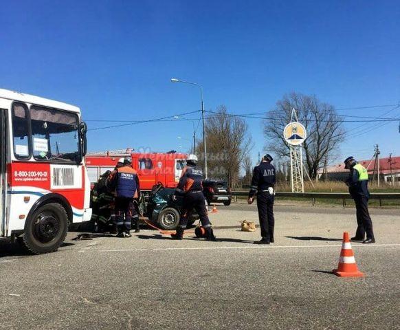 На выезде из Ставрополя произошло серьёзное ДТП, есть погибший