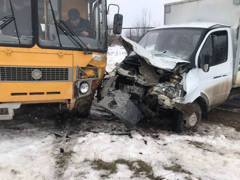 ВСтавропольском крае грузовая «Газель» протаранила ученический автобус