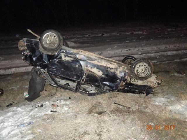На Ставрополье водитель погиб в перевернувшейся легковушке