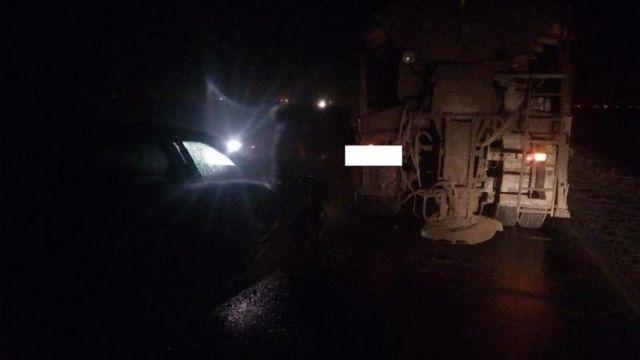 На Ставрополье водитель легковушки врезалась в «КамАЗ»