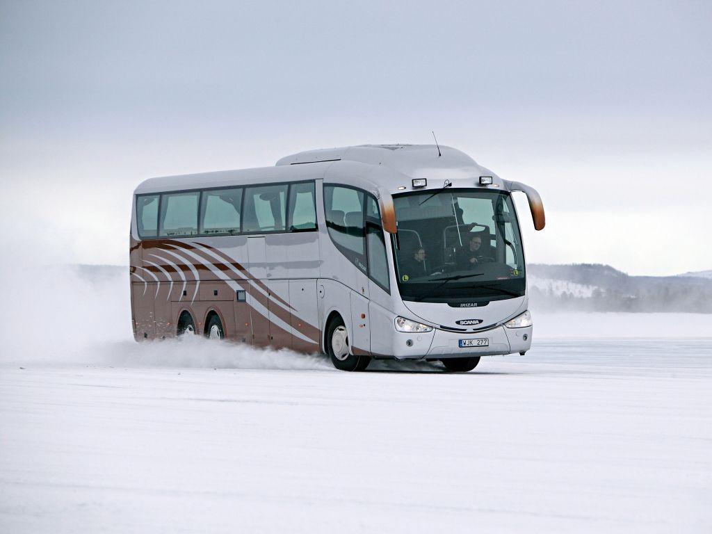 автобус зимой картинка универсальный грузовик, прекрасно